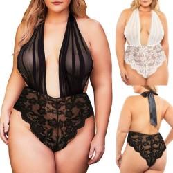 Plus size lace bodysuit