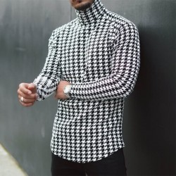 Men's houndstooth sweater