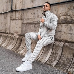Men's stripped tracksuit