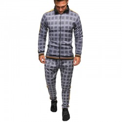 Men's plaid tracksuit