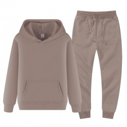 Men's hooded sweatshirt and pants jogging set