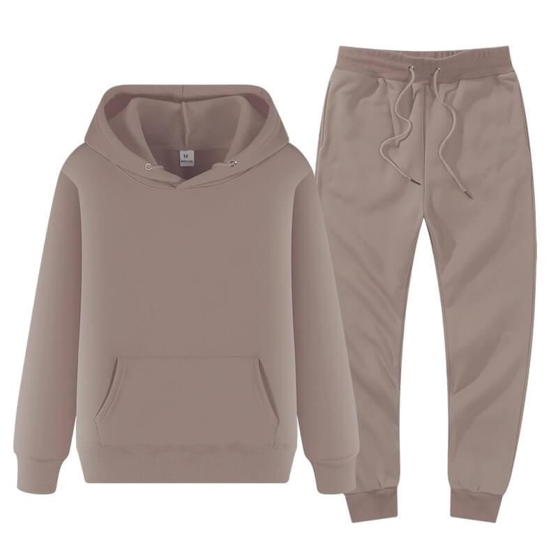 Ensemble de jogging sweater à capuche et pantalon homme