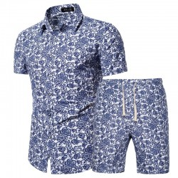 Men's vintage beach shorts and shirt