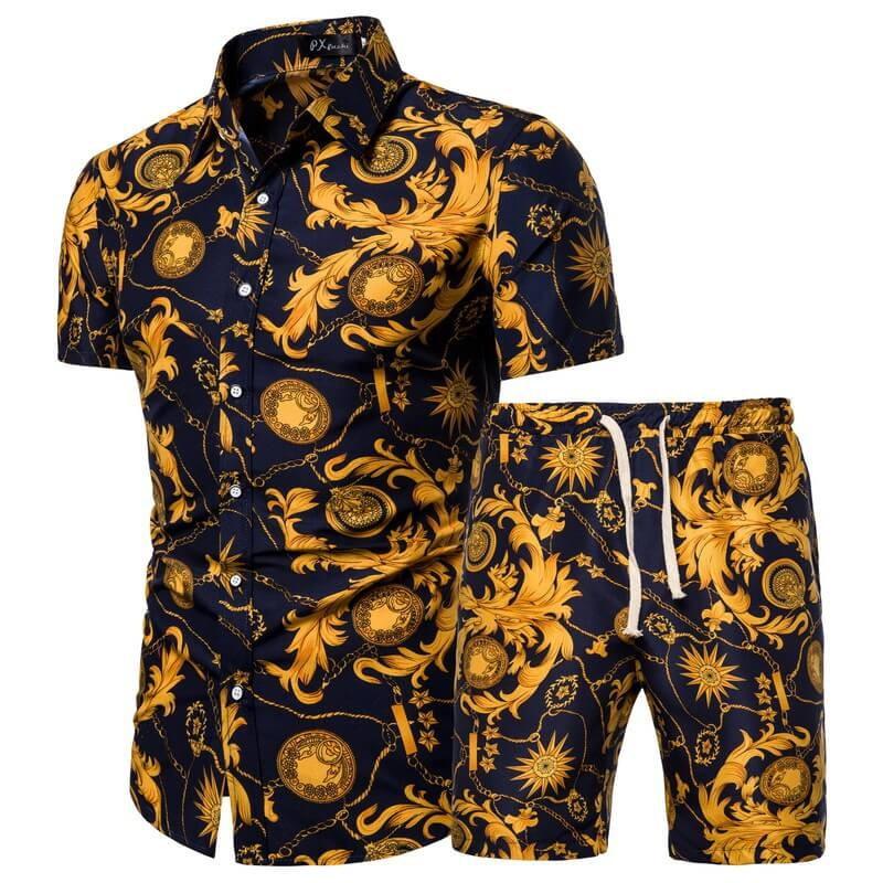 Chemise et short de plage vintage homme
