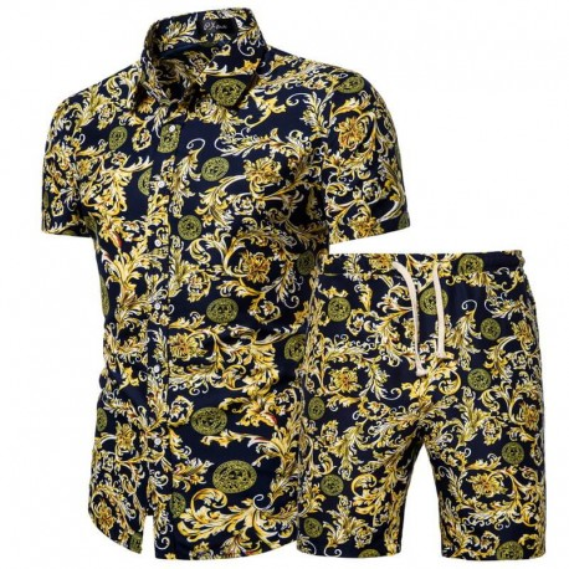 men-s-retro-beach-shorts-and-shirt