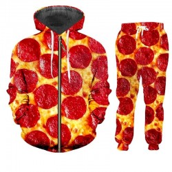 Pepperoni pizza jacket and pants tracksuit