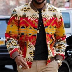 Men's African fashion bomber jacket