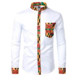 African fashion mandarin collar shirt