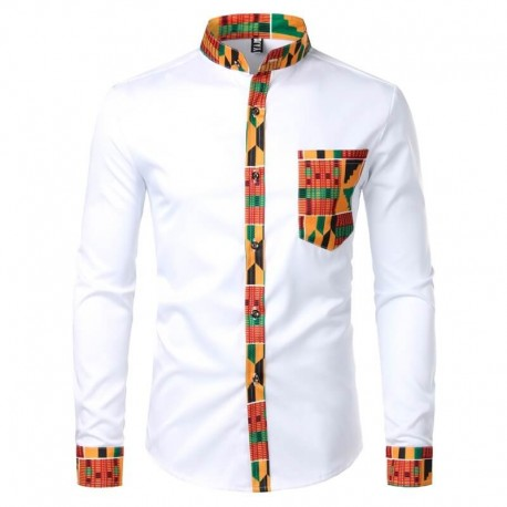 Chemise col mao mode africaine
