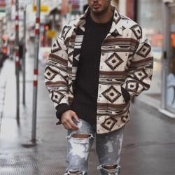 Men's aztec shirt jacket