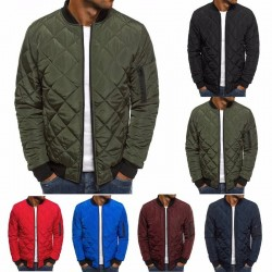 Quilted men's bomber