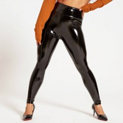 Patent leather leggings