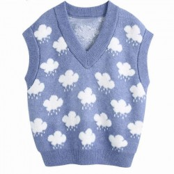 Cloud sweater vest