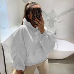 Puff sleeves sweatshirt
