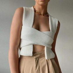 Knitted bandeau top