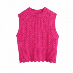 Red pink sweater vest