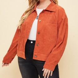 Plus size orange jacket