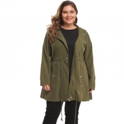 Plus size mid-length jacket