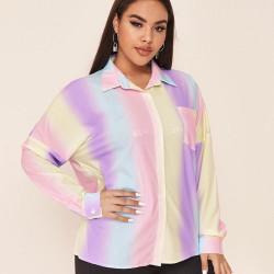 Plus size rainbow shirt