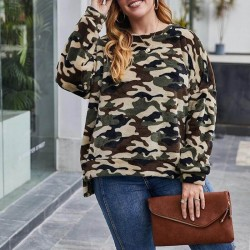 Plus size military sweatshirt