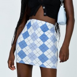 Retro plaid skirt