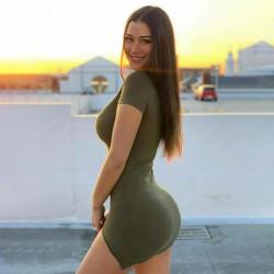Short slit bodycon dress