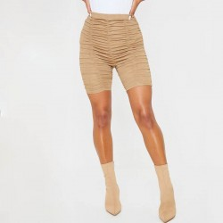 Pleated cycling shorts