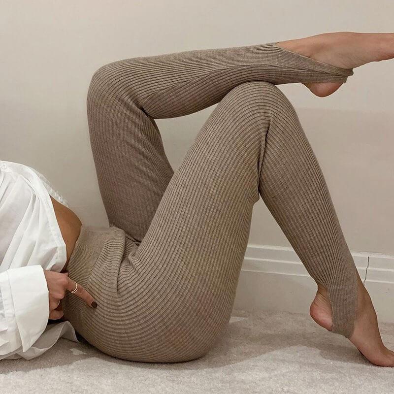 Legging avec élastique aux pieds