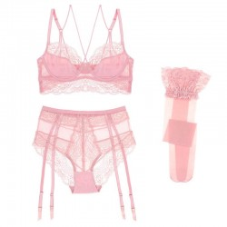 Lace 3 pieces lingerie set