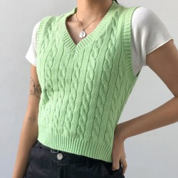Twisted sweater vest