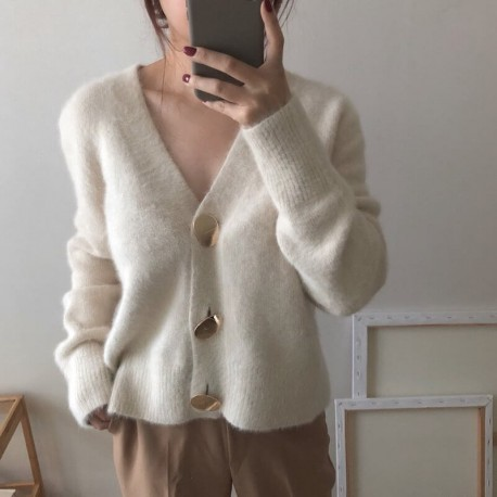 Cardigan rétro gros boutons