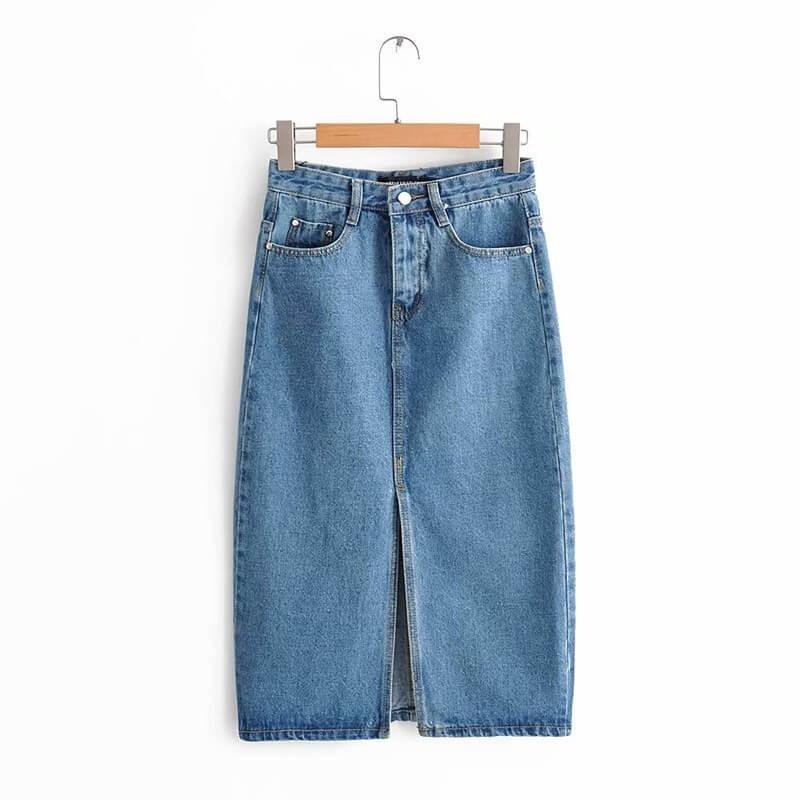 Jupe en jean mi-longue
