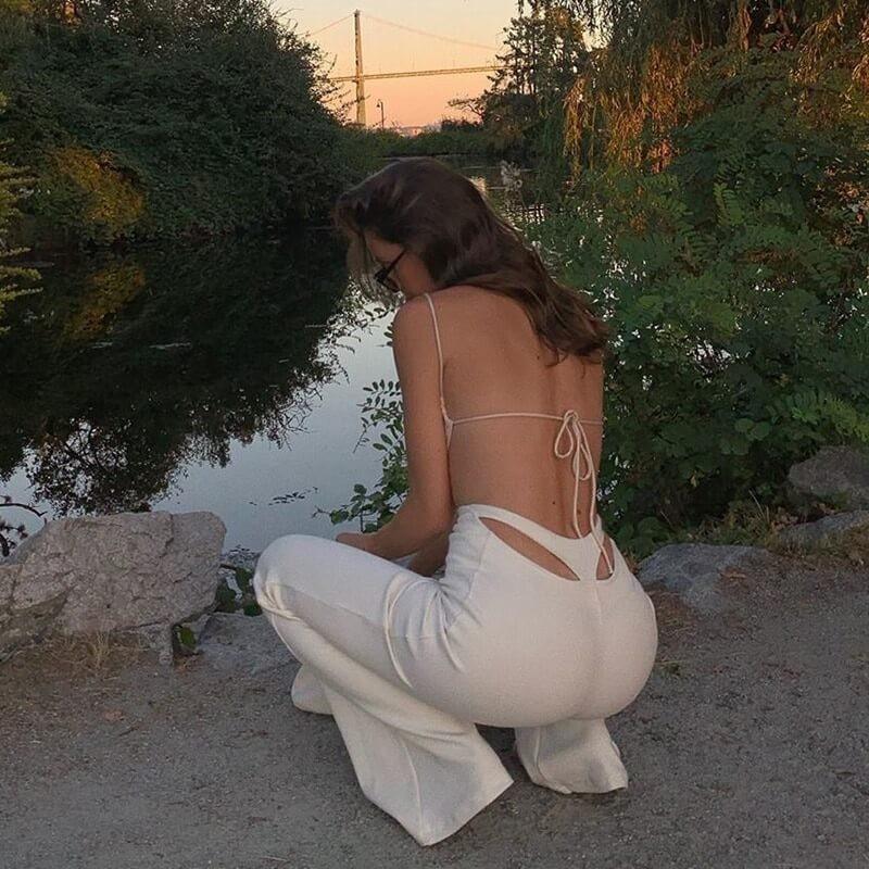 Pantalon string blanc