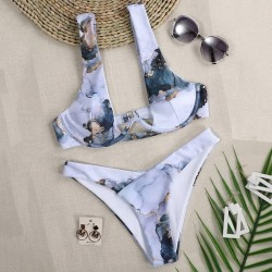 Plunging neckline bikini