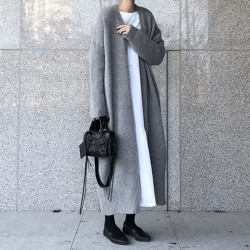 Foot length cardigan