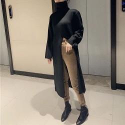 Long split sweater