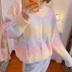 Rainbow pastel sweater