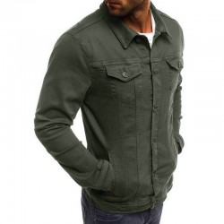 Men's army green denim jackets