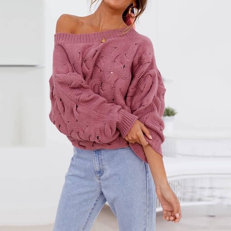 Pull tricot asymétrique