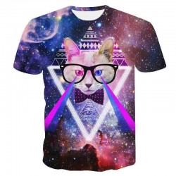 Illuminati cat T-shirt