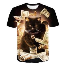 T-shirt chat rappeur
