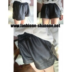 Mini short en cuir
