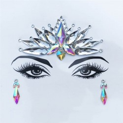 Rhinestone face sticker