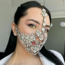 Bijoux pour le visage masque en diamant