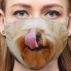 Yorkshire dog face mask
