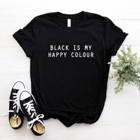 T-shirt BLACK IS MY HAPPY COLOR
