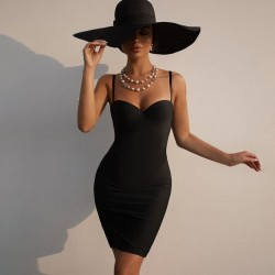 Black dress with straps