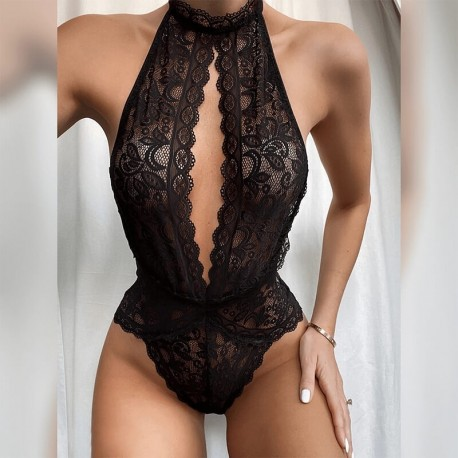 Exotic lace bodysuit lingerie