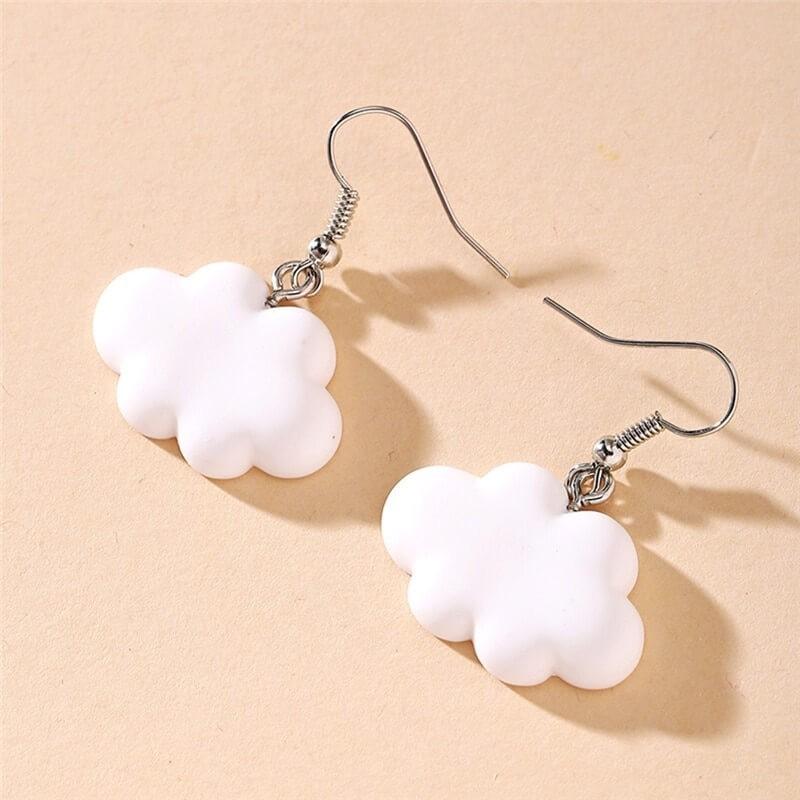 Boucles d'oreille nuage