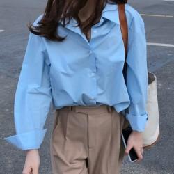 Oversize blue shirt